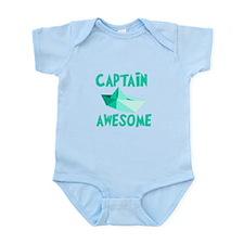 Captain Awesome Boat Infant Bodysuit
