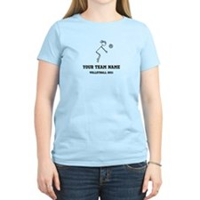 Customizable Volleyball Girl T-Shirt