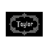 """Celtic Knots Taylor"" Rectangle Magnet"