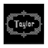 """Celtic Knots Taylor"" Tile Coaster"