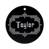 """Celtic Knots Taylor"" Ornament (Round)"