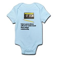 Cassette Tape Pencil Relation Infant Bodysuit