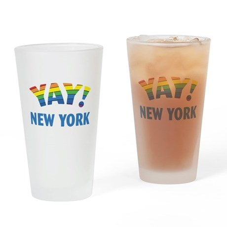 YAY! NEW YORK Pint Glass