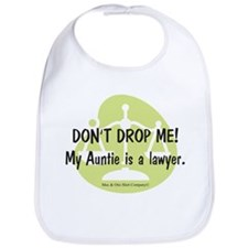 Don't drop me! My Auntie is a lawyer. Bib