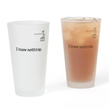 I know nothing. Pint Glass