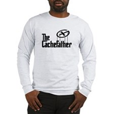 Geocaching THE CACHEFATHER black Long Sleeve T-Shi
