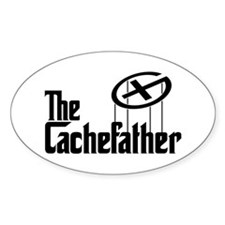 Geocaching THE CACHEFATHER black Decal