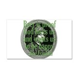 Beer, Love, God Car Magnet 12 x 20