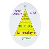 New Orleans Food Pyramid Ornament (Oval)