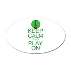 Keep Calm Play On (Guitar) 20x12 Oval Wall Decal