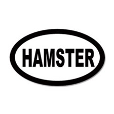 Hamster 22x14 Oval Wall Peel