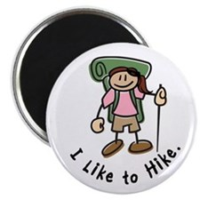 I Like To Hike Girl (Green) Magnet