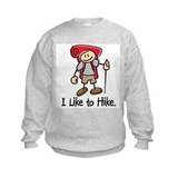 I Like To Hike Girl (Red) Sweatshirt