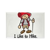 I Like To Hike Girl (Red) Rectangle Magnet