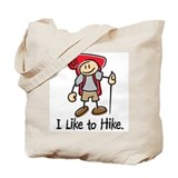 I Like To Hike Girl (Red) Tote Bag