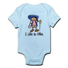 I Like To Hike Girl (Blue) Infant Bodysuit