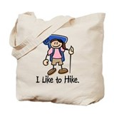 I Like To Hike Girl (Blue) Tote Bag