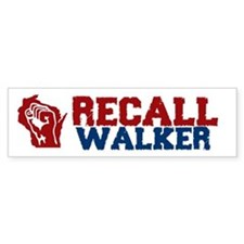 Cute Recall scott walker Bumper Sticker
