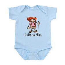I Like To Hike Girl (Orange) Infant Bodysuit