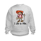 I Like To Hike Girl (Orange) Sweatshirt