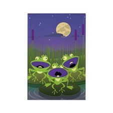 Loony Frogs Art Rectangle Magnet (10 pack)