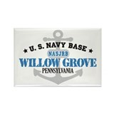 US Navy Willow Grove Base Rectangle Magnet