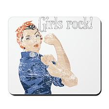 Girls Rock! (vintage) Mousepad