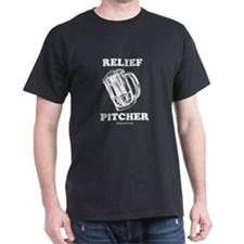 Relief pitcher -  Black T-Shirt