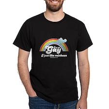 I'm not gay, I just like rainbows -  Black T-Shirt
