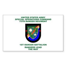 1st Ranger Battalion Flash Decal