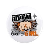 "Fight Like A Girl Multiple Sclerosis 3.5"" Button"