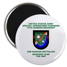 2nd Ranger Battalion Flash Magnet