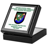 3rd Ranger Battalion Flash Keepsake Box