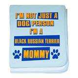 Black Russian terrier Mommy baby blanket