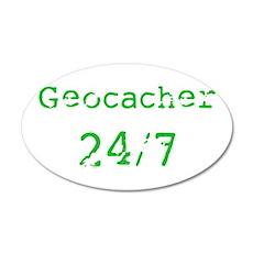 Geocacher 24/7 38.5 x 24.5 Oval Wall Peel