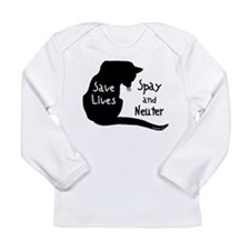 Save Lives (Cat) Long Sleeve Infant T-Shirt