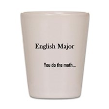 English Major Shot Glass
