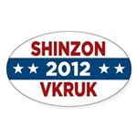 Star Trek Sticker (Oval) - These t-shirts and other items are for fans of the classic science fiction tv and movie series, Star Trek. Support the Romulan Empire and vote for Shinzon and Vkruk in 2012! - Availble Colors: White,Clear