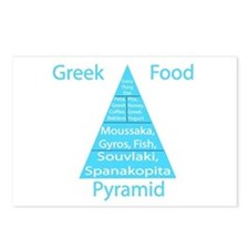 Greek Food Pyramid Postcards (Package of 8)