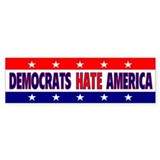 Democrats Hate America Bumper Sticker (10 pk)