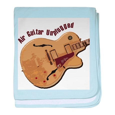 The Unplugged Air Guitar baby blanket