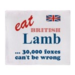 Slam in the Lamb Throw Blanket