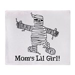 The Mummy's Girl Throw Blanket