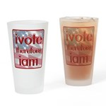 Think, Vote, Be with this Pint Glass