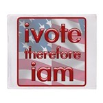 Think, Vote, Be with this Throw Blanket