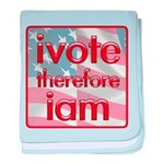 Think, Vote, Be with this baby blanket
