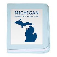 Funny Michigan baby blanket