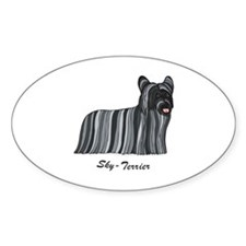 Skye-Terrier Oval Decal