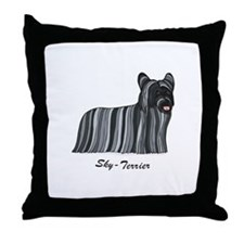 Skye-Terrier Throw Pillow