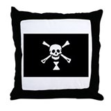 Emanuel Wynn's Pirate Flag Throw Pillow